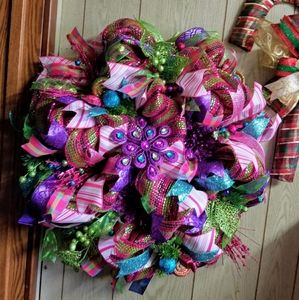 Bold and Beautiful Bling Christmas Wreath